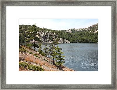 George Lake Framed Print by Ted Kinsman