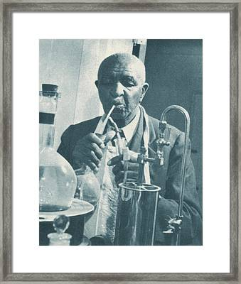 George W. Carver, African-american Framed Print by Science Source
