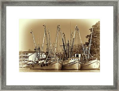 Framed Print featuring the photograph Georgetown Shrimpers by Bill Barber