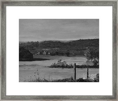 Georgia Farm House Framed Print by Rich Donadio