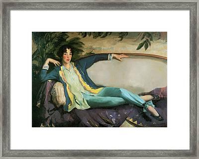 Gertrude Vanderbilt Whitney Framed Print by Robert Henri