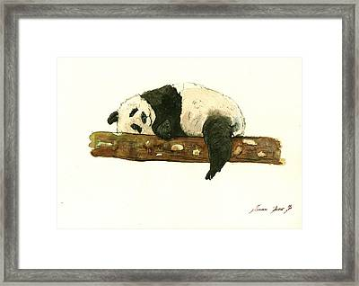 Giant Panda Framed Print by Juan Bosco