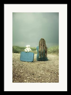 Lonely Girl Framed Prints