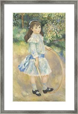 Girl With A Hoop Framed Print