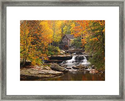 Glade Creek Grist Mill - Fall Framed Print
