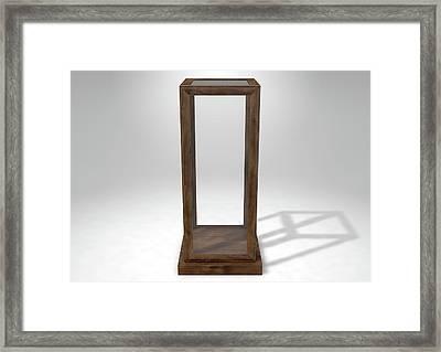 Glass Display Case Verticle Framed Print