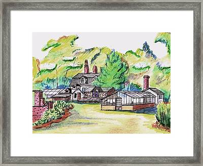Glen Magna Farms Green House Framed Print