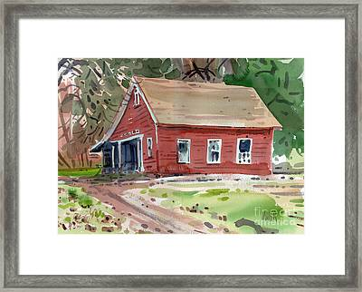 Glenbrook Carriage House Framed Print by Donald Maier