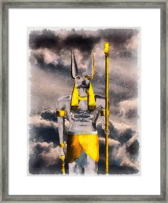 Gods Of Egypt - Anubis Framed Print