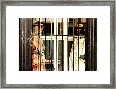 Going Down Framed Print by Jez C Self