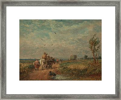 Going To The Hayfield Framed Print