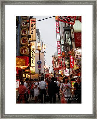 Framed Print featuring the photograph Golden Dragon Noodle Shop by Yolanda Koh