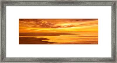 Golden Panoramic Sunset Framed Print