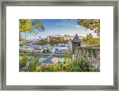 Golden Salzburg Framed Print by JR Photography