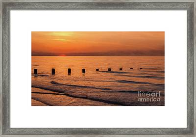Framed Print featuring the photograph Golden Sunset by Adrian Evans