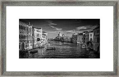 Gondola On The Grand Canal Framed Print by Andrew Soundarajan
