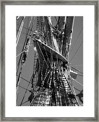 Gorch Fock ... Framed Print by Juergen Weiss
