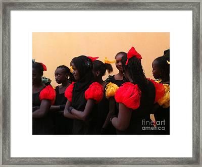 Goree Girls Framed Print by Fania Simon