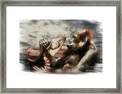 Framed Print featuring the photograph Gorilla  by Christine Sponchia