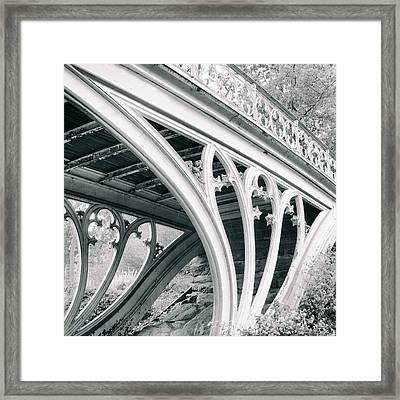 Gothic Bridge Detail Framed Print by Jessica Jenney