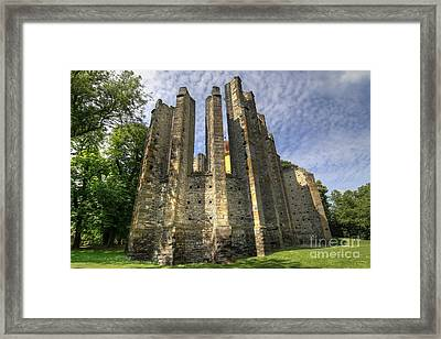 Gothic Cathedral Of Our Lady Framed Print by Michal Boubin