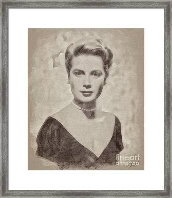 Grace Kelly, Actress And Princess Framed Print by John Springfield