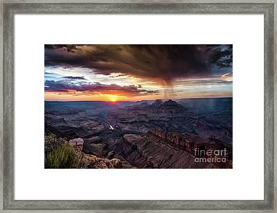 Grand Canyon Monsoon Sunset Framed Print