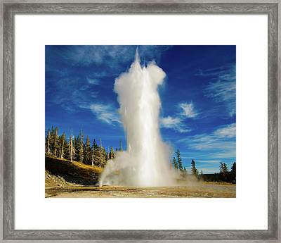 Framed Print featuring the photograph Grand Geyser by Norman Hall