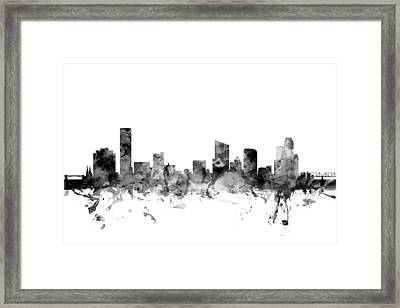 Grand Rapids Michigan Skyline Framed Print