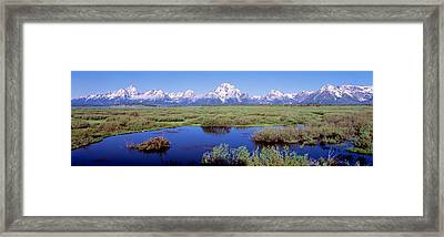 Grand Teton Park, Wyoming, Usa Framed Print