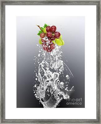 Grape Splash Framed Print by Marvin Blaine