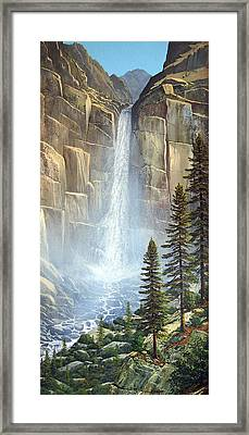 Great Falls Framed Print by Frank Wilson