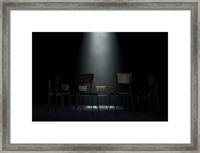 Group Therapy Chairs Framed Print