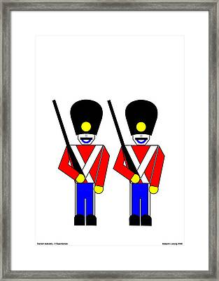 2 Guardsmen Framed Print by Asbjorn Lonvig