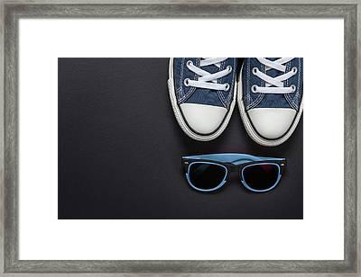 Gumshoes Framed Print