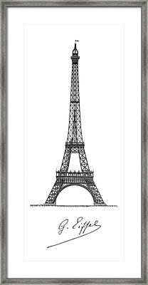 Gustave Eiffel's Tower Minimal Framed Print