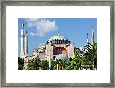 Hagia Sophia In Istanbul Framed Print