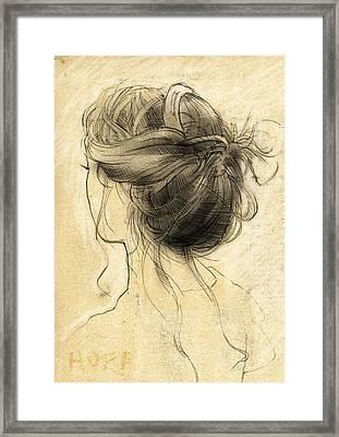 Hair Study Framed Print by H James Hoff