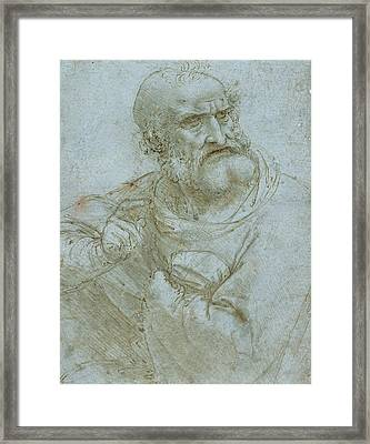 Half-length Figure Of An Apostle Framed Print