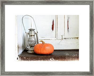 Halloween Pumpkin Framed Print by Jelena Jovanovic