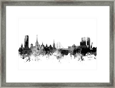 Halmstad Sweden Skyline Framed Print by Michael Tompsett
