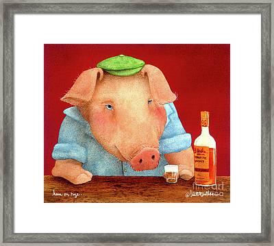 Ham On Rye... Framed Print