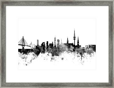 Hamburg Germany Skyline Framed Print by Michael Tompsett