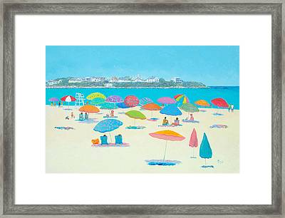 Hampton Beach And Boars Head Framed Print by Jan Matson