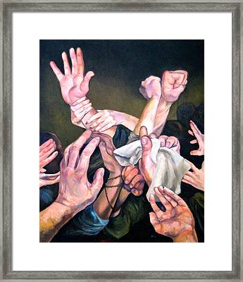 Hands Framed Print by Douglas Manry