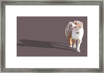 Happy Aussie Framed Print