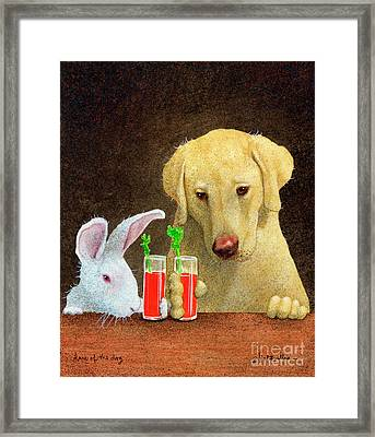 Hare Of The Dog... Framed Print