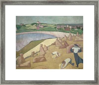 Harvest By The Sea Framed Print by Emile Bernard