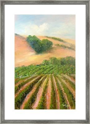 Heart Mountain Framed Print by Sally Seago