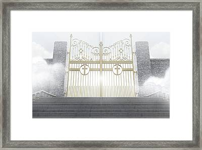 Heavens Gates Framed Print